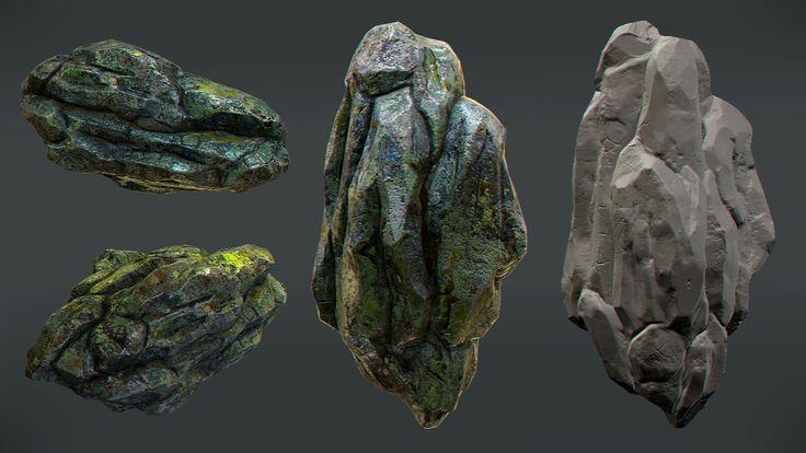 ArtStation - Rock asset study, Nebojsa Nikodijevic