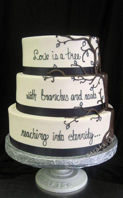 Tree cake. wish i had seen this when picking out my wedding cake!