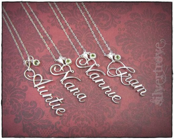 Sterling Silver Calligraphy Script Name Pendant by SilverTrove
