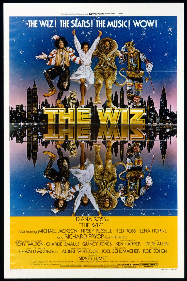 "african american movie posters | Original poster for the film ""The Wiz"", 1978"