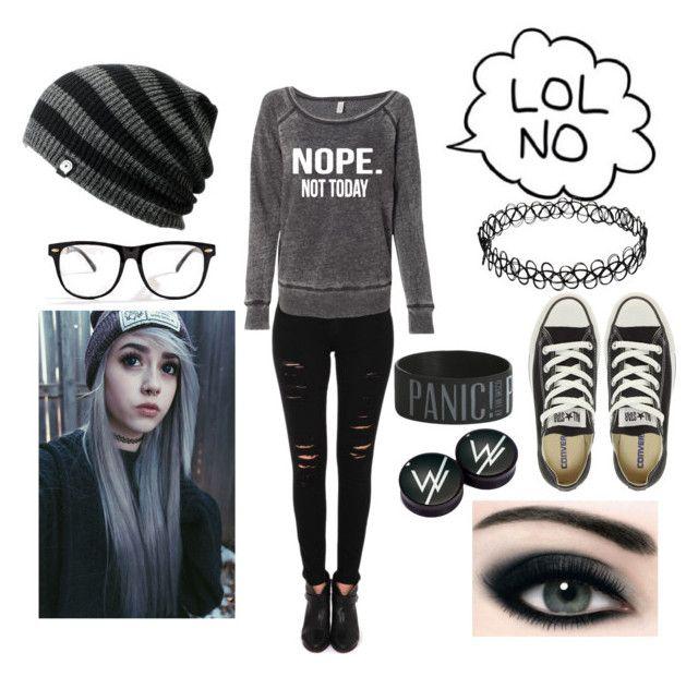 Nope Emo Mondays Fashion Punk Outfits Cute Emo