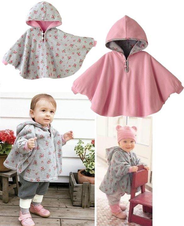 Baby двусторонний носить реверсивные детей мыс пуховики куртка одежда пальто бархатный плащ балахон Ромпер