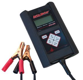 Auto Meter 40 Amp Handheld Electrical System Analyzer Part#AMRBVA-300 Auto Meter's BVA-300 40 Amp Handheld Electrical System Analyzer is a technician grade handheld electric system tester that performs a complete electrical system test in less than 82 seconds. Designed to test each component of a vehicle's electrical system with speed and accuracy, this unit utilizes an on-board 40 amp load and patented Digital Pulse Load technology to fully test most batteries, starters, and alternators