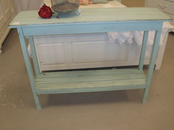 RESERVED  Shabby Chic Console Table by ThePolishedPear on Etsy