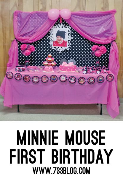 Minnie Mouse 1st Birthday Party - seven thirty three