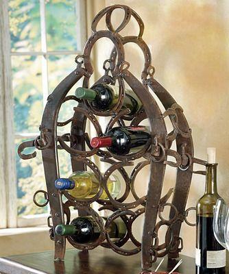 Horseshoe Wine Rack.  Erin another idea!