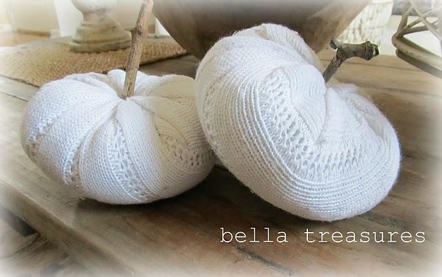 white sweater pumpkins