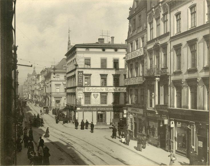 Cuudoo!. Każdy szczegół.Ulica Świdnicka. Widok w stronę Rynku Rok 1900