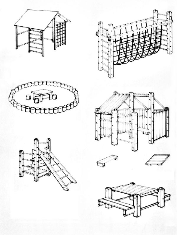 Детская площадка для дачи своими руками: чертежи, советы