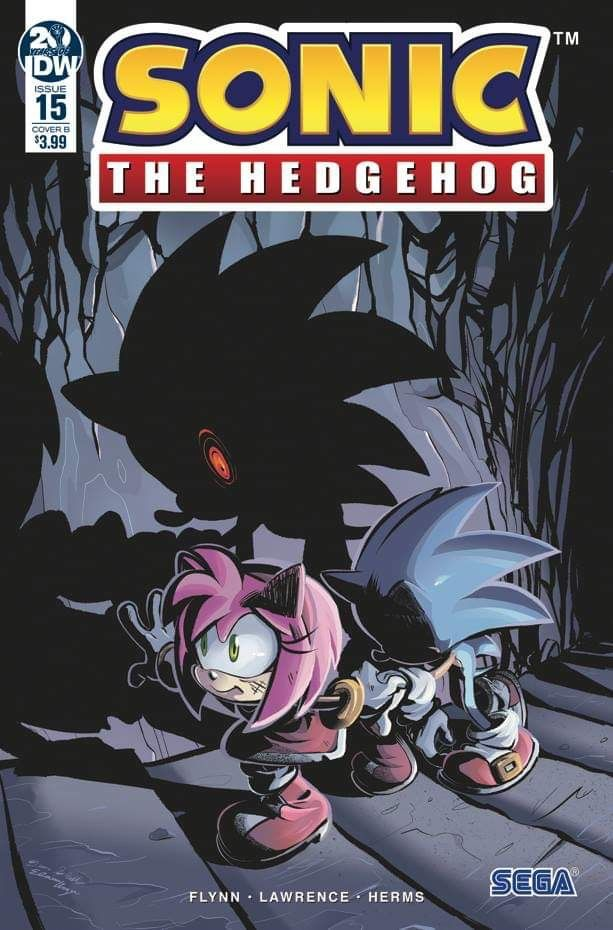 Issue 15 Cover Of Idw Sonic The Hedgehog Sonic The Hedgehog Sonic Sonic And Shadow