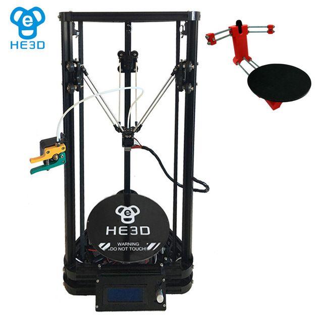 Set sale_2017 Newest auto leveling reprap k200 delta_single extruder 3D printer_heat bed ,PLUS open source DIY 3D scanner
