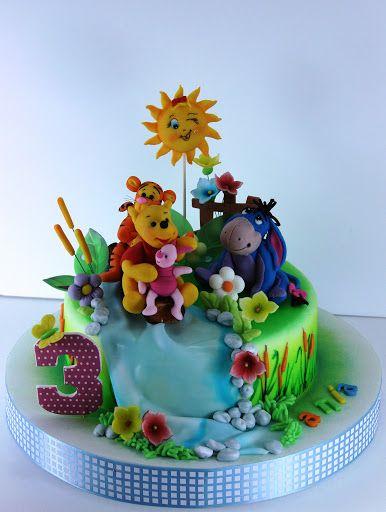 viorica's cakes: Winnie pentru Ania si Barney pentru Anisia: Cakes Winnie, Cakes Mania, Amazing Cakes, Awesome Cakes, Decoration Cakes, Barney Party, Cakes Idea, Children Cakes, Birthday Cakes