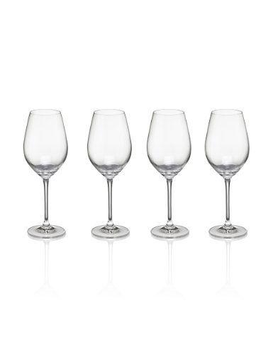 4 Maxim White Wine Glasses-Marks & Spencer