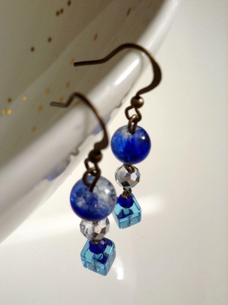 Elegant blue crystal dangle & drop earrings by ViewofBeauty on Etsy