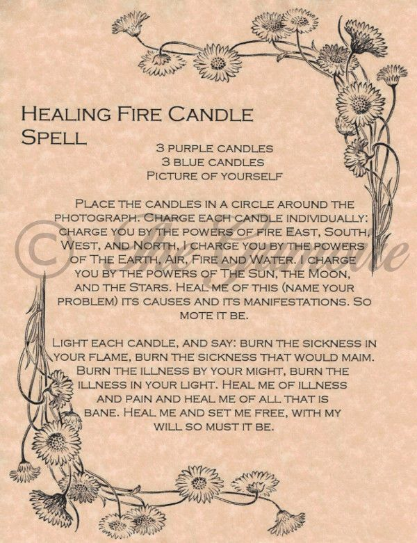 Healing Fire Candle Spell for Book of Shadows, Real Magic Spells, Wicca, BOS picclick.com