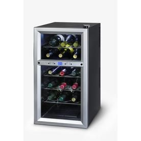 Kalorik 18-Bottle Black Dual Zone Freestanding Wine Chiller Wcl 20629