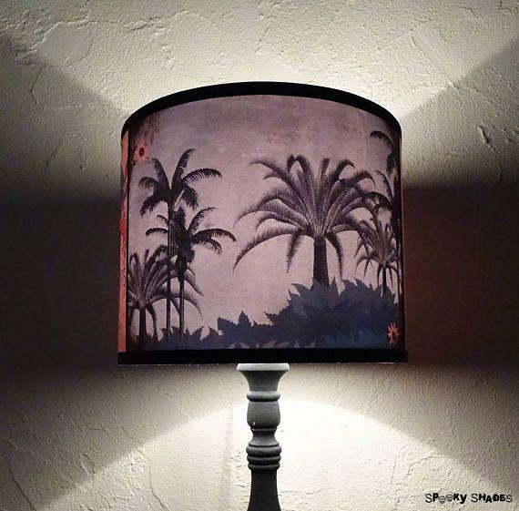 Tropical lamp shade lampshade  #palmtrees #palms  #SpookyShades #tropicallampshade #tropicaldecor #summerdecor
