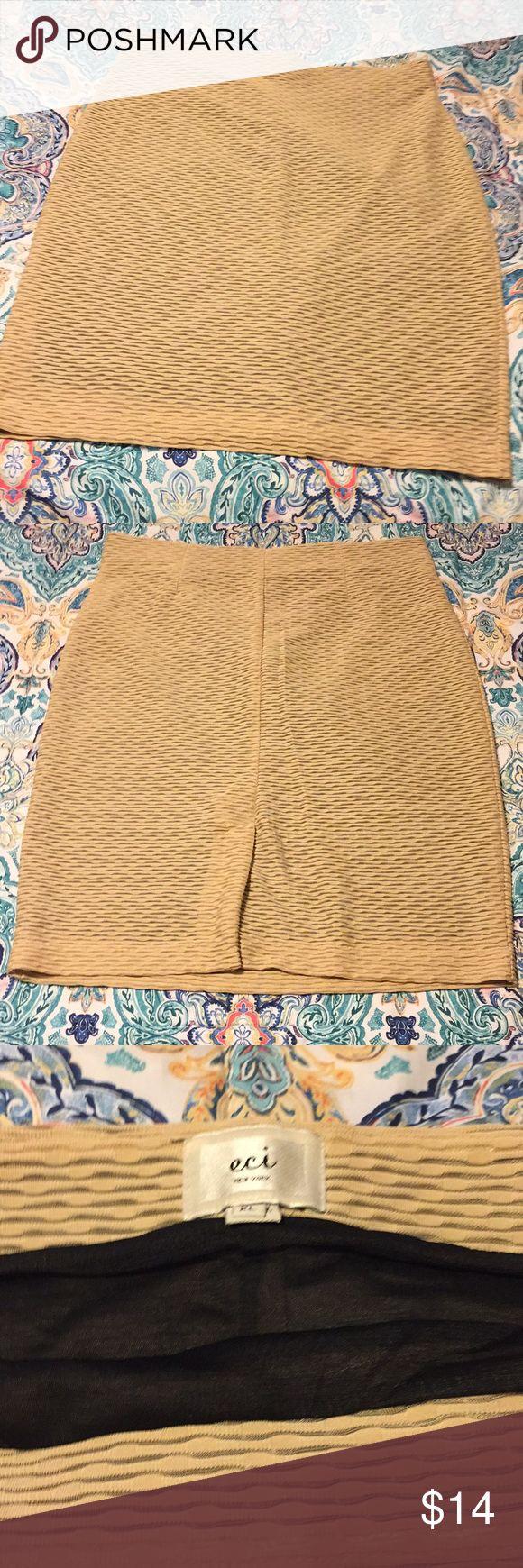 ECI XL tan pencil skirt Tan pencil skirt with black lining ECI Skirts Pencil