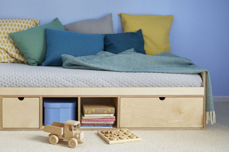 Our bed is equipped with as follows: a big drawer to store beding, two smaller drawers for personal belongings and small shelves for different things.