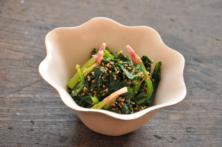 ほうれん草のごま和えのレシピ/作り方:白ごはん.com