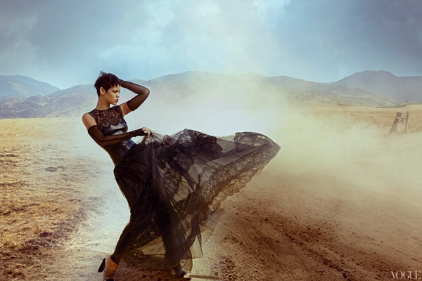 All The Photos From Rihanna's Dramatic Vogue Cover