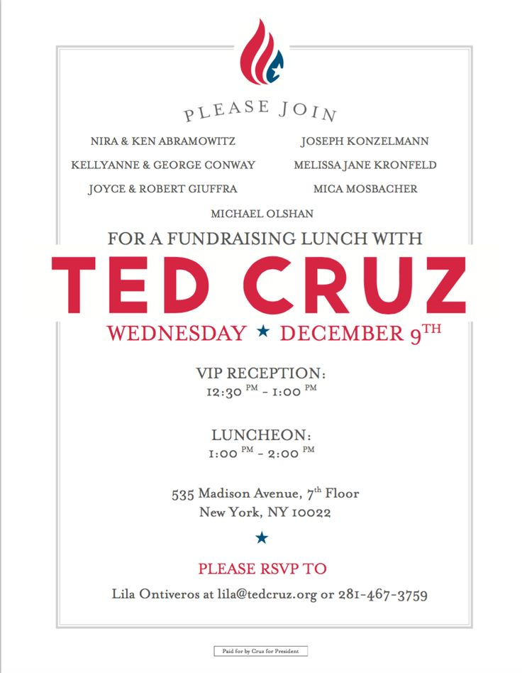 Political Fundraising Invitation  Fundraising Invitation Samples