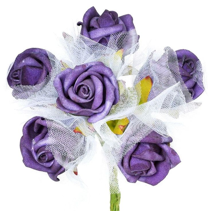 72 x SPECIAL EDITION Tres Beau Silk Roses - Purple |  Aptly named Tres Beau, a French word for Beautiful, our foam roses provide you much superior and refined version of artificial flowers. Made from high quality Styrofoam, these faux blooms will continue having a perfect shape, displaying perpetual bloom forever. Wired stem is swathed with green ribbon to give a realistic stem look. Bendable wired stem can easily be wrapped around baskets, boxes, or can be twisted into different crafts to…