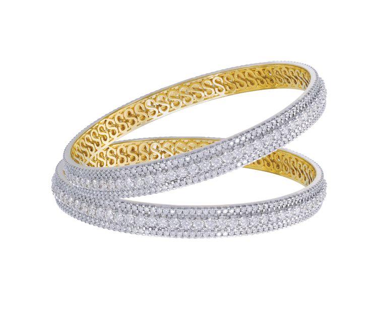 Dazzling diamond bangles.