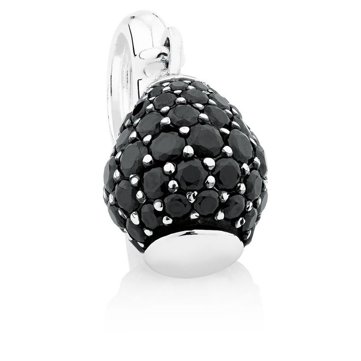 Cubic zirconia & sterling silver charm. Wild Hearts Collection exclusive to Emma & Roe.