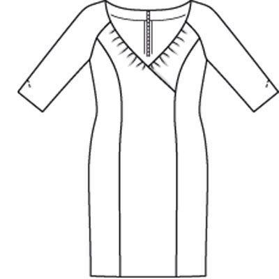 Платье - выкройка № 132 из журнала 7/2009 Burda – выкройки платьев на Burdastyle.ru