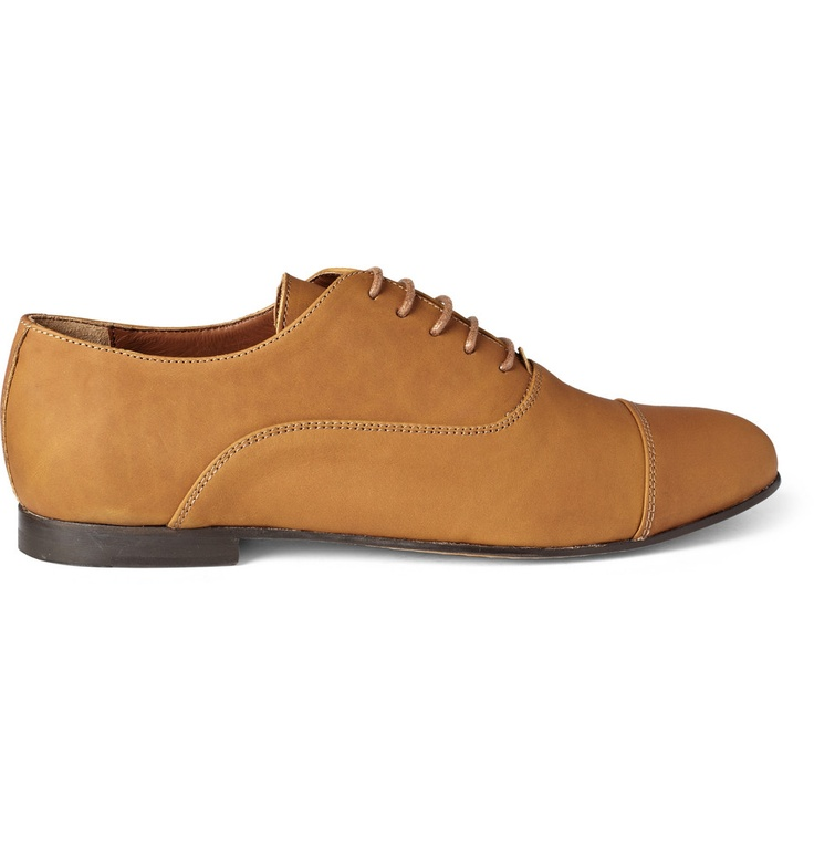 b Store - brown Mario leather Oxford shoes with a toe cap and contrasting dark brown narrow leather soles