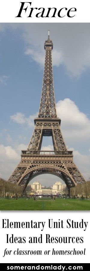 France Unit Study - resources and activities for kindergarten to elementary children interested in learning about France. Great resources to supplement a Europe continent study. Click through for book list, movies, TV, hands on activities, and all the res