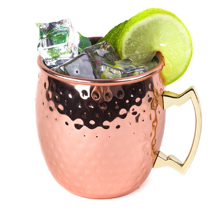 High quality Hammered Copper plated Stainless Steel Copper Moscow Mule Mug Drum-Type Beer Cup Coffe Cup Water Glass Drinkware