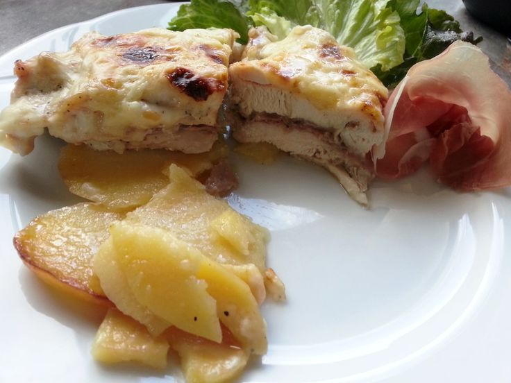Pechugas de pollo rellenas al horno - Petti di pollo ripieni al forno - Chicken breast stuffed recipes baked