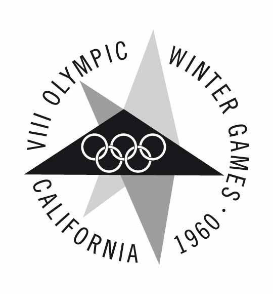 Offical logo for the 1960 Olympic games in Squaw Valley