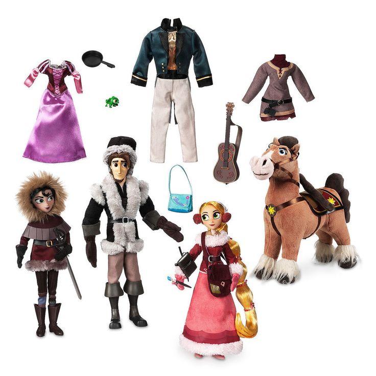 Rapunzel, Flynn, Cassandra & Maximus Tangled The Series Deluxe Doll Set Disney #Disney