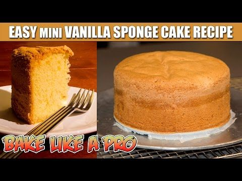 Easy Mini Vanilla Sponge Cake Recipe