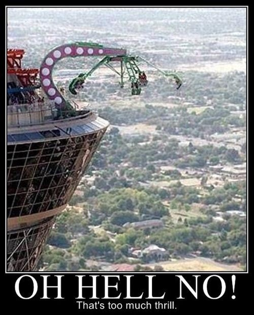 We stayed here at the Stratosphere hotel when we went to Vegas.... we didn't ride this ride though, cause this was my exact thought!!!!