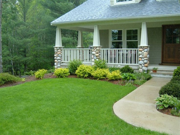 17 best images about front porch upgrade on pinterest for Rock pillars on house