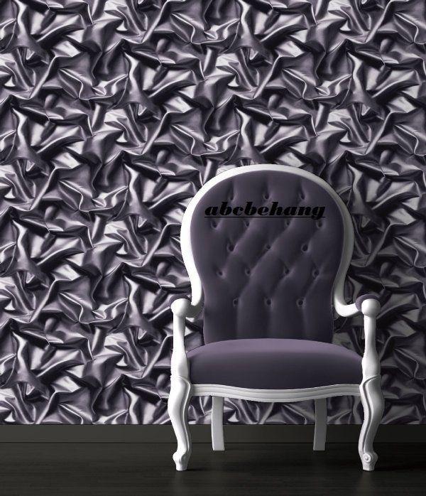 laken stoffen behang 3d effect grijs paars f729-09
