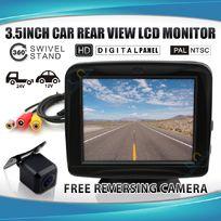 """3.5"""" LCD Monitor +12v CMOS IR Reversing Camera"""