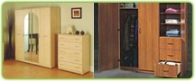 Buy modern wooden wardrobe designs, home furniture, cabinets, closet doors and modular kitchen interiors for bedroom from Rama Doors Delhi, Faridabad, Gurgaon NCR.