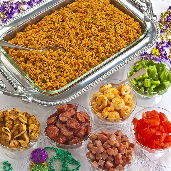 Mardi Gras party food - Olivia Manning's Ultimate Jambalaya Bar