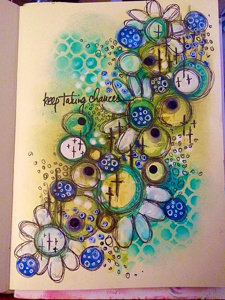 Keep taking chances - Playing in my art journal with a mix of distress inks, neocolor2, PanPastel and Dylusions acrylics @artfromtheheart_uk @caran_dache