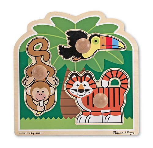 3 Piece Rainforest Friends Jumbo Knob Puzzle | Melissa & Doug