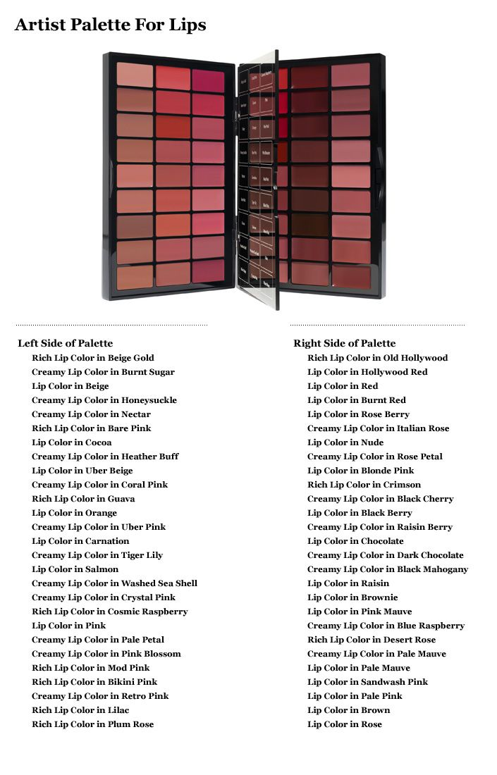 Bobbi Brown Artist Palette for Lips--54 shades, 3 formulas. This would be SO much fun to play with.