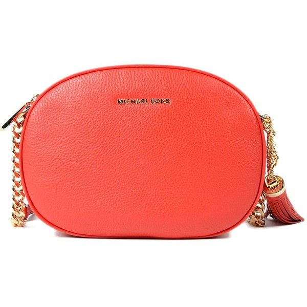 Ginny Md Messenger (£165) ❤ liked on Polyvore featuring bags, messenger bags, bright red, womenbags, real leather bags, genuine leather messenger bag, red bag, michael kors and michael kors bags
