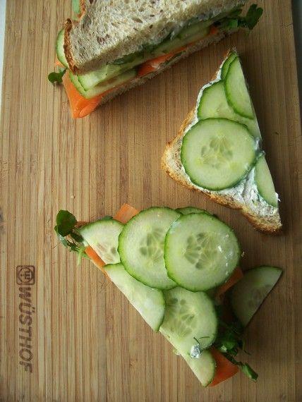 Delicious | cucumber sandwiches.