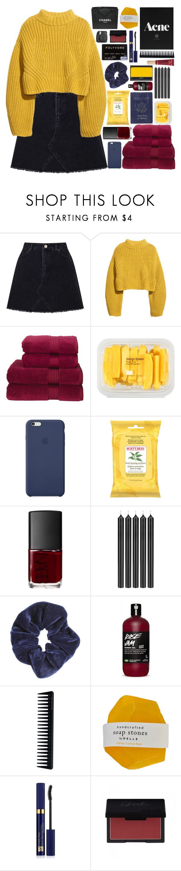 """""""I Should Be The One You Choose"""" by theafergusma ❤ liked on Polyvore featuring Miss Selfridge, H&M, Christy, MANGO, Burt's Bees, NARS Cosmetics, Passport, Tom Dixon, Too Faced Cosmetics and GHD"""