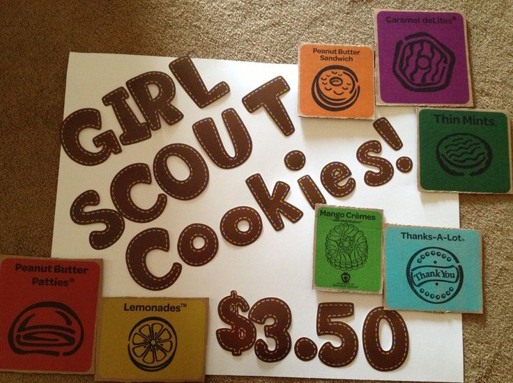 girl scout cookie sale girl scout cookie booth sign girl